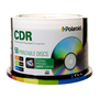 CDR80 White Thermal Hub Printable 50pk 52X