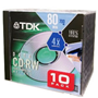 CDRW80 Rewritable Case 4X